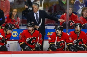Bob Hartley's Flames were eliminated from playoff contention on Wednesday night. (Sergei Belski-USA TODAY Sports)