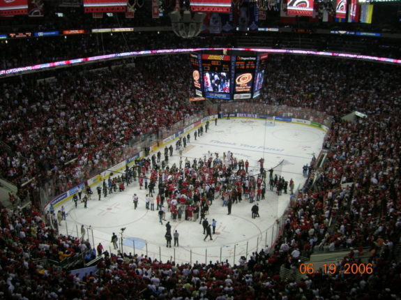 Stanley Cup Aftermath at the RBC Center (Bobby Schultz/Wikimedia)