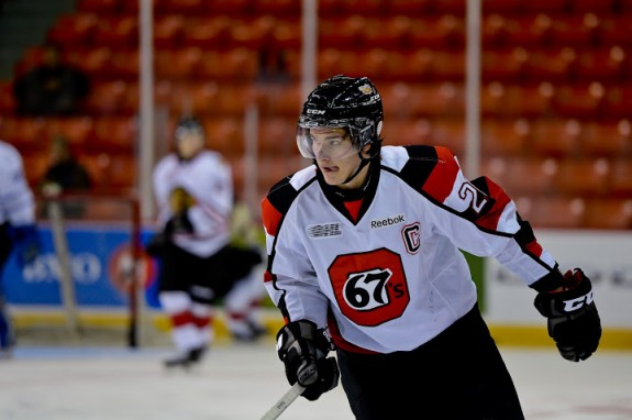 Sean Monahan of the Ottawa 67's [photo: David Chan]