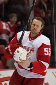 Niklas Kronwall has been Detroit's best defence-man during this season and series, and will need to keep his defensive teammates focused if they want to extend their series with the Ducks to a game 7. (Tim Fuller/USA TODAY Sports)