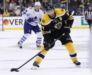 Boston's league-leading faceoff win percentage is due in large part to Patrice Bergeron. (Greg M. Cooper-USA TODAY Sports)