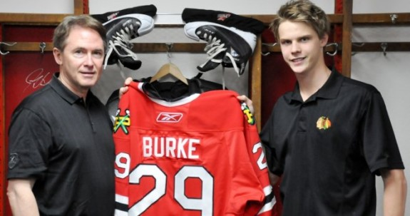 Brendan Burke, right, is an under-the-radar goaltending prospect. (WHL.ca)