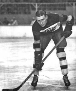 "Hockey Hall of Famer and Boston Bruins Aubrey ""Dit"" Clapper."