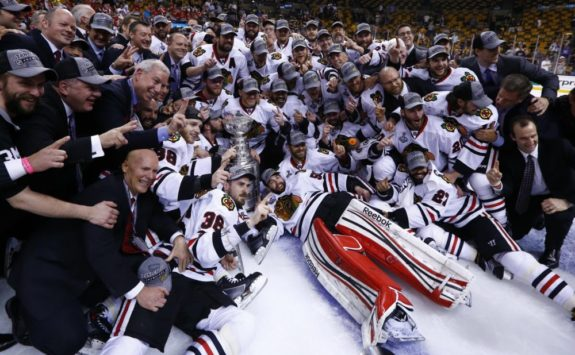 Chicago is the last team to win the Presidents' Trophy and Stanley Cup in the same year.