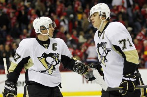 Sidney Crosby and Evgeni Malkin will have to improve their playoff perfances this season.(Geoff Burke-USA TODAY Sports)