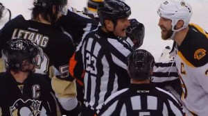 Crosby Confronts Chara