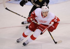 Brunner further proved his track-record of a point producer, as he was a great source of secondary scoring for the Red Wings this past season and playoffs. (Jerome Miron-USA TODAY Sports)