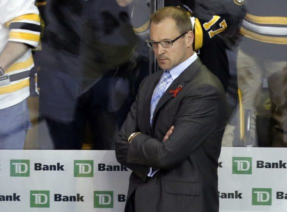 Assistant coach Dan Bylsma of the Detroit Red Wings.