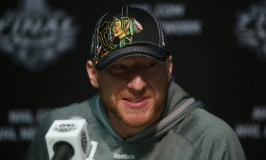 Marian Hossa and the Chicago Blackhawks Chelsea Dagger the Minnesota Wild