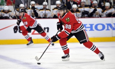 Patrick Kane and Jonathan Toews Go At It, Go Pro Style [Video]