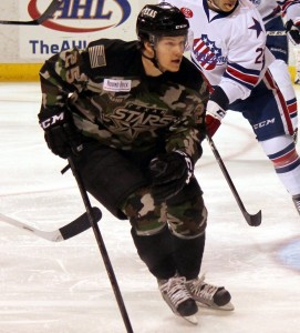 Matt Fraser during Military Appreciation Weekend (Ross Bonander / THW)