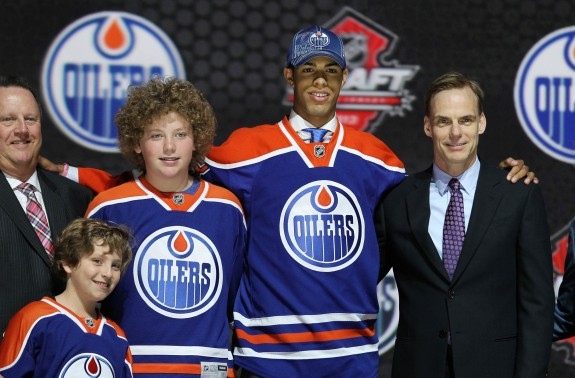 The Oilers took Darnell Nurse with the 7th pick (Ed Mulholland-USA TODAY Sports)