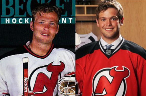 Martin Brodeur recently welcomed his son Anthony to the Devils organization and the two could be on the ice together at training camp in 2013. (Courtesy Beckett Hockey/Bill Wippert)