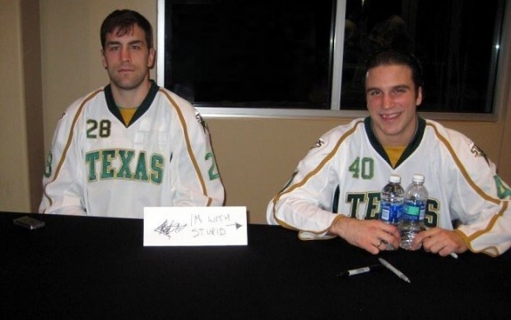Eric Godard and Tousi at a Texas autograph signing