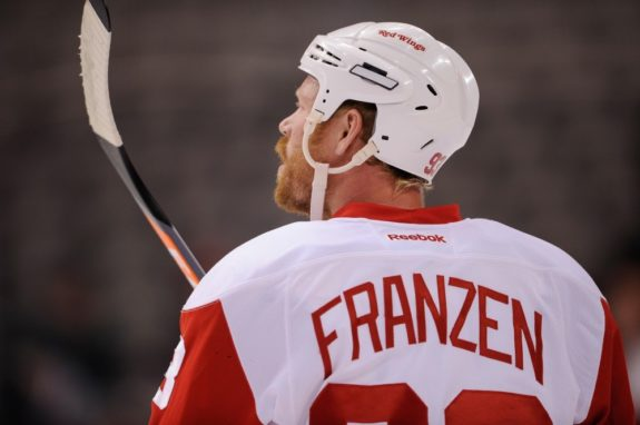 Johan Franzen of the Detroit Red Wings.
