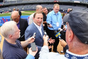 NHL commissioner Gary Bettman doesn't believe that six outdoor games is too many (Ed Mulholland-USA TODAY Sports)