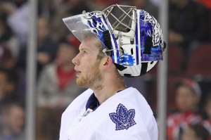 James Reimer allowed five goals on 40 shots vs. the Winnipeg Jets Saturday night. (Ed Mulholland-USA TODAY Sports)