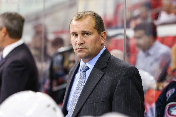Columbus Blue Jackets head coach Todd Richards   Photo Credit: Andy Martin Jr