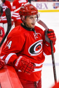 Carolina Hurricanes center Nathan Gerbe (14)   Photo Credit:  Andy Martin Jr