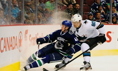Sharks Chomp Canucks, Send West a Message