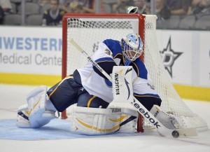 Allen is currently the starting goalie for the Chicago Wolves (Jerome Miron-USA TODAY Sports)