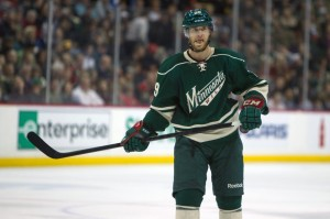 Jason Pominville scored the lone goal for the Minnesota Wild Tuesday night against the Jets. (Brace Hemmelgarn-USA TODAY Sports)