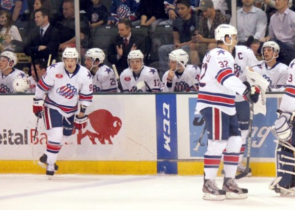 Rochester Americans bench