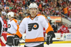 "Giroux will continue to feel heat so long as he wears the ""C""- Photo by Andy Martin Jr"