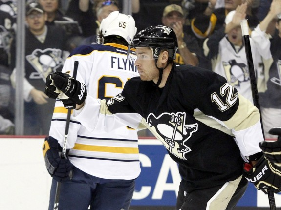 Chuck Kobasew has two game-winning goals in two games with the Pittsburgh Penguins. (Charles LeClaire-USA TODAY Sports)