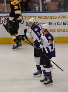 Linden Vey and Tyler Toffoli hope to translate potential into reality for the Kings this year.  (Josh Weinreb Photo)