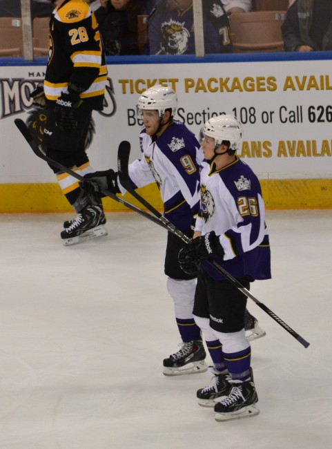 Tyler Toffoli (right) is one of the Monarchs' top scorers this season. (Josh Weinreb Photo)