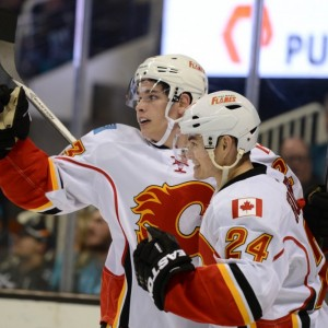 Jiri Hudler, Calgary Flames, Sean Monahan, NHL, Hockey