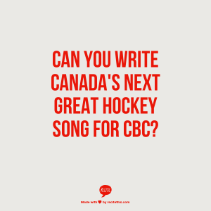 cbc hockey song contest, Hockey Night in Canada