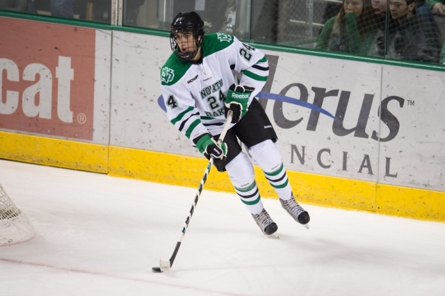 Schmaltz is in his sophomore year (Eric Classen, UND Sports)