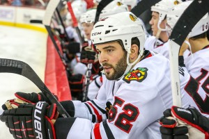 Chicago Blackhawks left wing Brandon Bollig - Photo Credit:   Andy Martin Jr