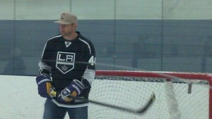 Robyn Regehr's injury forced L.A. to dress just five defensemen earlier this year. (Mario Boucher Photo)
