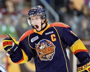 Connor Brown lead the CHL in scoring in 2013-14 with 45 goals and 128 points.  (Terry Wilson/OHL Images)