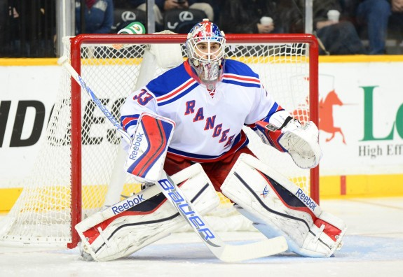 Cam Talbot's 26 saves gave the backup goalie his second shutout of the season, and another Rangers win against the Flyers.