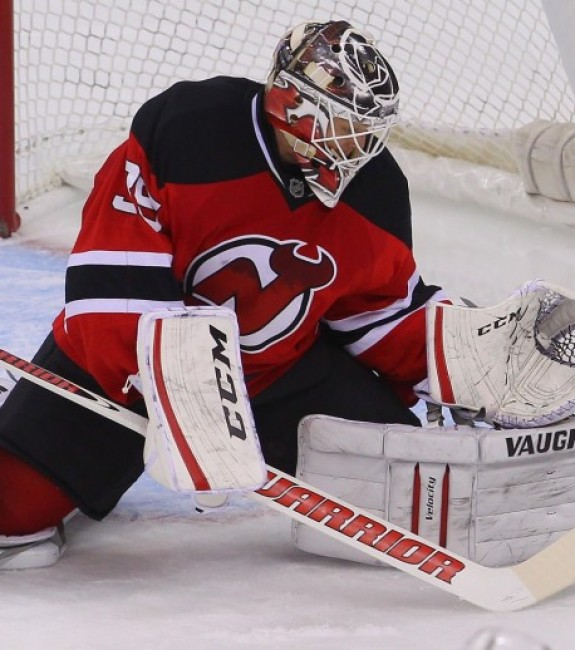 Cory Schneider is giving the Devils a chance to win every night. (Ed Mulholland-USA TODAY Sports)