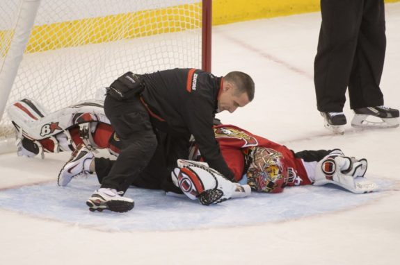 Craig Anderson has certainly hurt fantasy owners and has injury risk as well. (Marc DesRosiers-USA TODAY Sports)