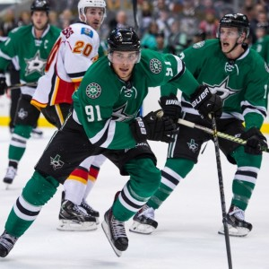 Tyler Seguin missed the entire preseason with a hairline fracture of his heel. (Jerome Miron-USA TODAY Sports)