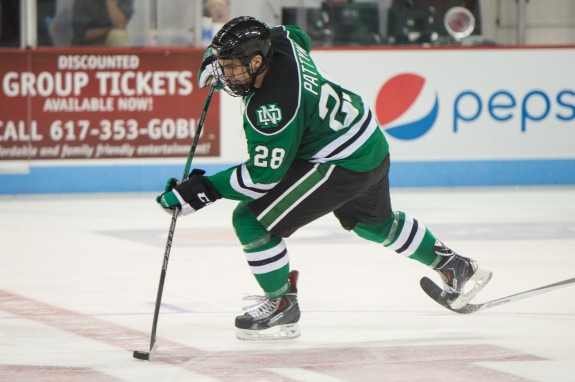Steph Pattyn against BU, Eric Classen, UND Athletics