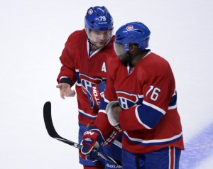 Montreal Canadiens Andrei Markov and P.K. Subban.