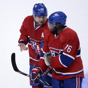 Ex-Montreal Canadiens defensemen Andrei Markov and P.K. Subban