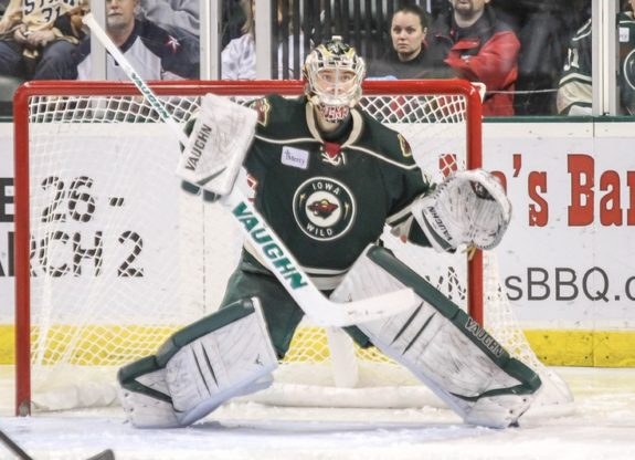 It looks as if Darcy Kuemper may have put on the Iowa Wild jersey for the last time.