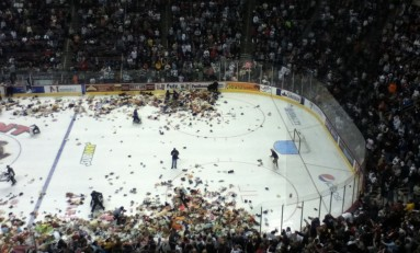 Hershey Bears Host Teddy Bear Toss Night