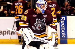 Goalie Jake Allen has set himself apart as one of the AHL's top goalies this season. (Ross Bonander/THW)