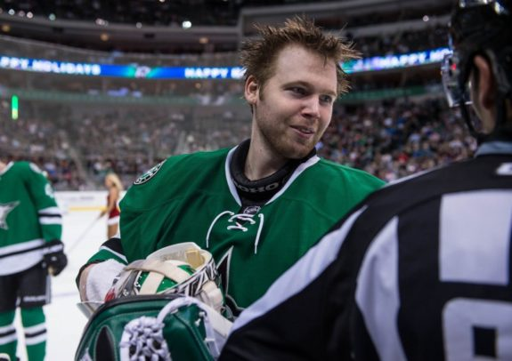 Kari Lehtonen turned in a solid performance for the Stars Friday night.(Jerome Miron-USA TODAY Sports)