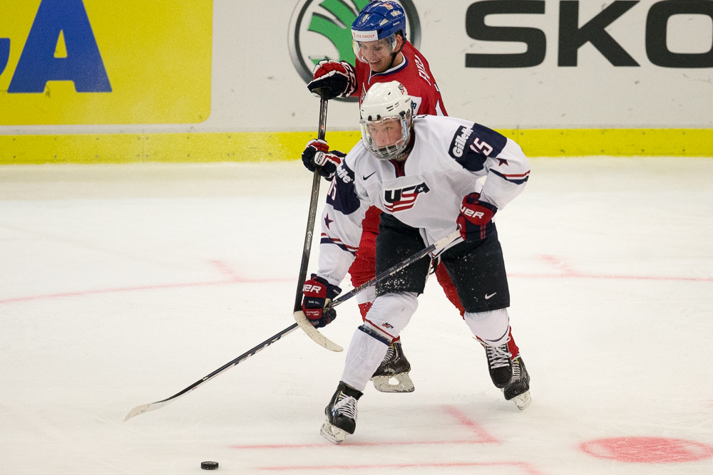 Jack Eichel of Team USA - 2014 World Juniors (WJHC)
