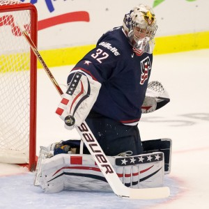 Jon Gillies of Team USA - 2014 World Juniors (WJHC)